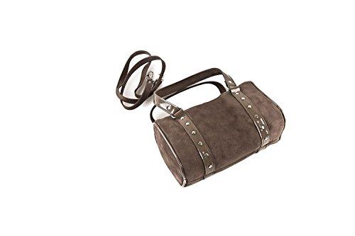 borsa ANNALUNA camoscio borsetta taupe N326 sera IN ITALY Bauletto donna da MADE BHwx17wq