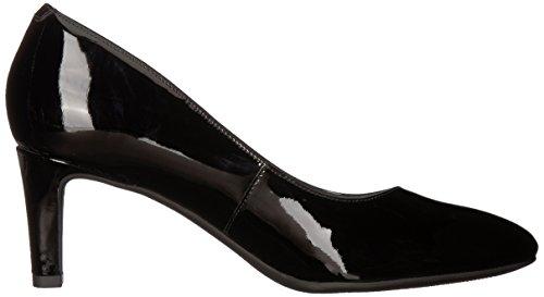 Women's Leather Patent Rose Clarks Black Calla Pump TFnwUq