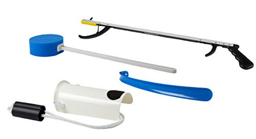 FabLife Hip Kit with 26'' Reacher, Contoured Sponge, Formed Sock Aid, 18'' Plastic Shoehorn by FabLife