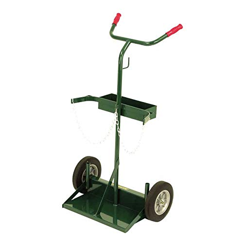Harper Trucks 142-86 46-Inch High by 28-Inch Wide Deluxe Welding Cylinder Hand Truck with 10-Inch Solid Rubber ()