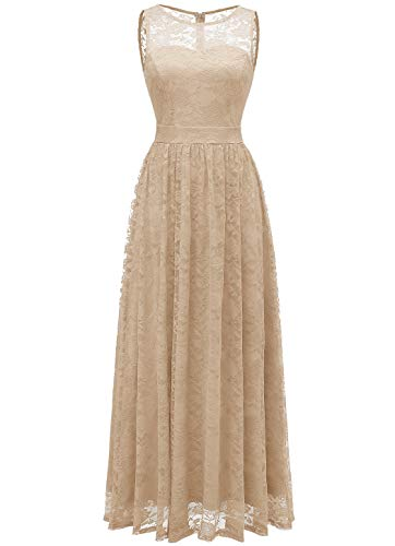 Wedtrend Women's Floral Lace Long Bridesmaid Dress Party
