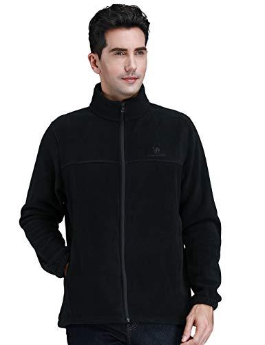 CAMEL CROWN Men Full Zip Fleece Jackets with Pockets Soft Polar Fleece Coat Jacket for Fall Winter Outdoor (Best Mens Outdoor Coats)
