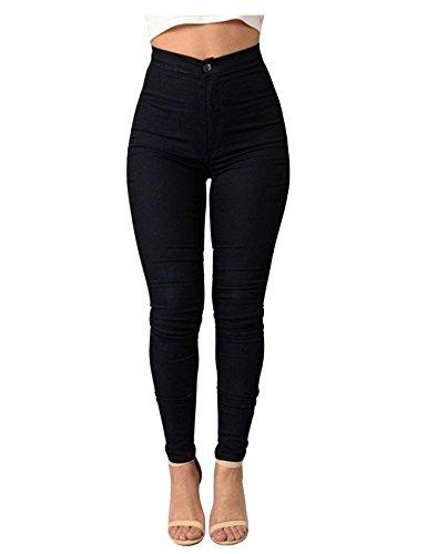 Noir Legou Basique Taille Collant haute Legging Large X Femme Slim TrI0rq