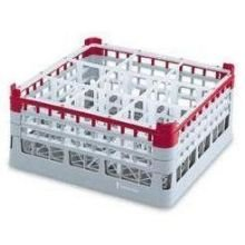 Vollrath Light Green 25-Compartment Glass Rack, 8 1/2 inch - 1 each.