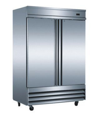 "54"" Two Section Solid Door Reach in Freezer - 46.5 cu. ft."