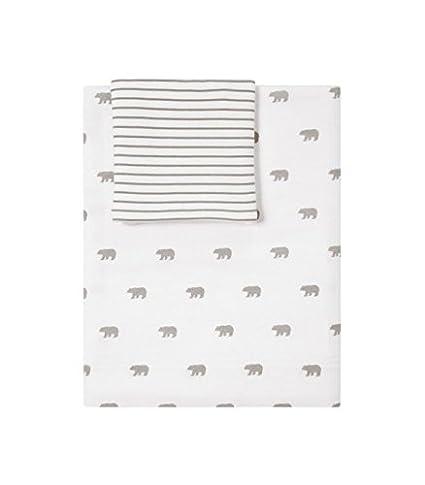 Set lenzuola lettino 70 x 140 Pile Bianco: Amazon.it: Prima infanzia