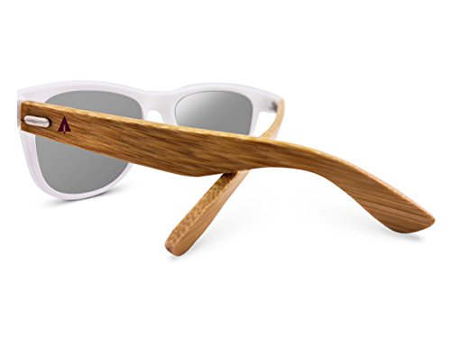 TREEHUT Wooden Bamboo Sunglasses Temples Classic Wayfarer Retro Square Wood Sunglasses 3 NATURE-FRIENDLY – Treehut Wooden Bamboo Sunglasses are environmentally conscious because they are made of sustainable bamboo wood. When bamboo is harvested, it renews itself readily, making it an endlessly renewable source. TRENDY DESIGN – The casual design of the Wayfarer exudes a classic feeling making it ideal for everyday use in any situation. It complements all face shapes and can be worn by ladies and gentlemen alike HIGH-GRADE LENSES – The composite iridium lenses offer 99% protection against harmful UVA/UVB rays, allowing you to have all the fun under the sun.