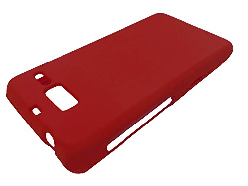 (For Motorola Droid Razr M/I XT907 Luge Hard Phone Protector Cover Case + Happy Face Phone Dust Plug (Red))