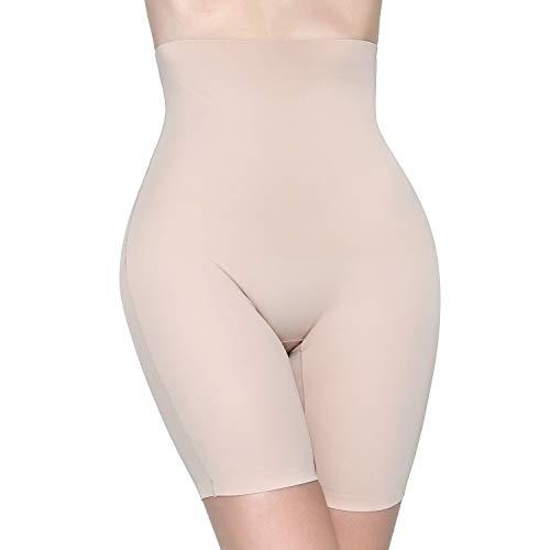 MOVWIN Women's Shapewear Seamless Thigh Slimmer Hi-Waist Tummy Control Body Shaper Smooth Slip Short Butt Lifter Panties (Medium
