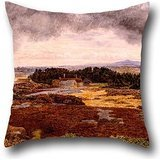 Pillowcover Of Oil Painting William Davis   View From Bidston Hill For Dance Room Kids Gf Festival Outdoor Kids Boys 16 X 16 Inch   40 By 40 Cm Twice Sides