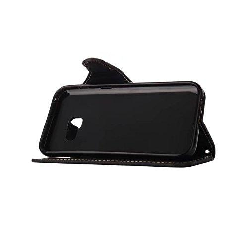 COWX Samsung Galaxy A5 (2017) Hülle Kunstleder Tasche Flip im Bookstyle Klapphülle mit Handyhalter PU Lederhülle für Samsung Galaxy A5 2017 Tasche Brieftasche A5 2017 schutzhülle d5jPuq8