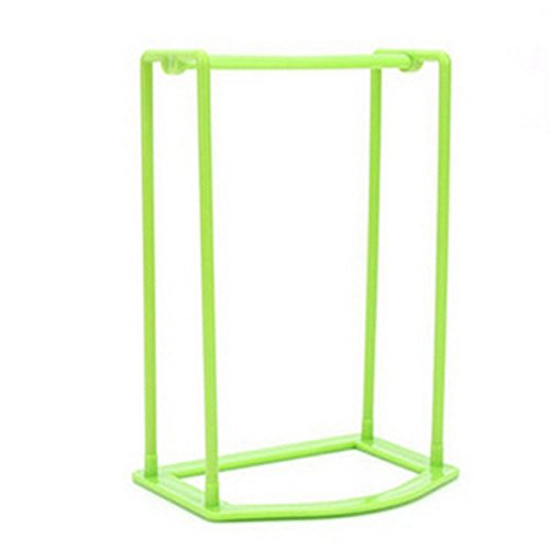 Hot Sale!DEESEE(TM)Plastic Hangers Creative Finishing Frame Hanger Companion Storage Rack (Green)