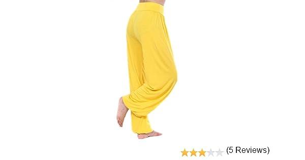 Cliont Womens Yoga Pantalones Harem Belly Dance Fitness Pantalones De Entrenamiento