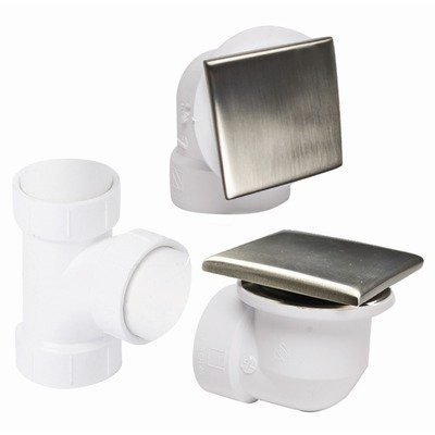 Square Style Bath Drain and Overflow Plumber's Half Kit for PVC Pipe Finish: PVD Brushed Bronze by Mountain