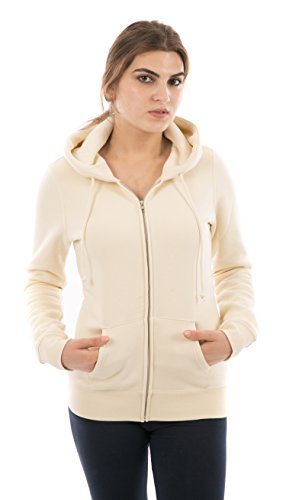 FORBIDEFENSE Women Fleece Hoodies Full Sleeve-Front Zip Premium Hood 2 Kangaroo Split Pocket