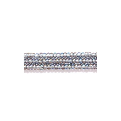 Preciosa Ornela Czech Seed Bead, Transparent Grey Aurora Borealis Finish, Size (Grey Czech Seed)