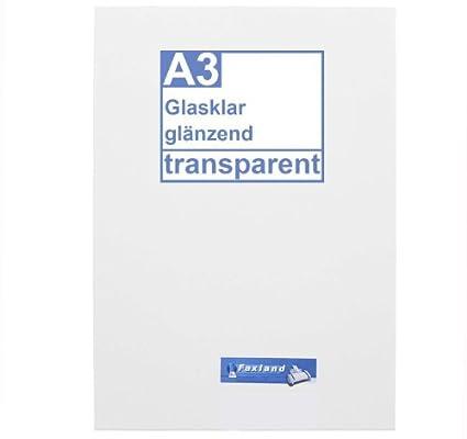 Faxland - Lote de 10 hojas de papel adhesivo A3 impermeable ...