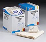 36 in. x36 in. x51 in. Triangular sling/bandage- w/ 2 safety pins- 20 per dispenser box
