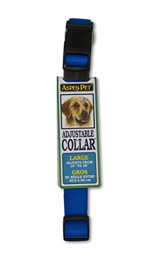 Petmate Aspen PET Products 20808 Nylon Adjustable Collar, 16 to 26-Inch, Blue
