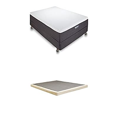 Classic Brands Cool Gel Memory Foam 12-Inch Mattress with 4-Inch Low Profile Instant Foundation, King