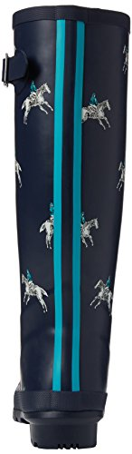 Horse Rider French Boots Wellington Joules Wellyprint Navy Women's Blue 7FwPOWn0q