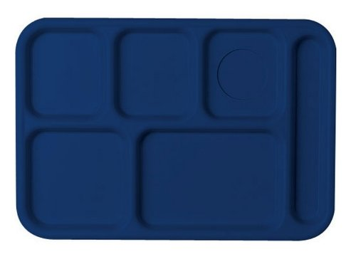 Cambro Tray - Cambro PS1014186 Textured Penny-Saver School Tray, 6-Compartment, 10
