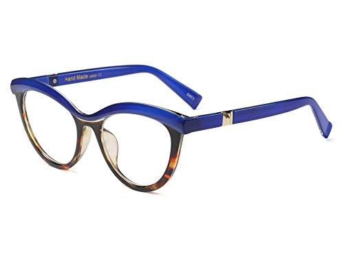 Allt Vintage Cat Eye Optical Eyewear Half Tinted Frame Mod Eyeglasses with Clear Lenses For Women ()