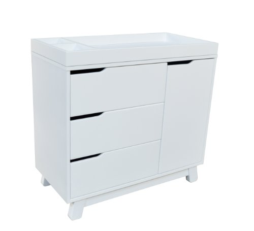 Babyletto Hudson 3-Drawer Changer Dresser with Removable Changing Tray, White
