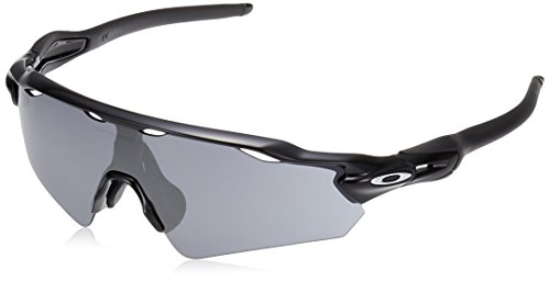 Oakley Men's Radar Ev Path (a) Non-Polarized Iridium Rectangular Sunglasses, POLISHED BLACK, 35.02 ()
