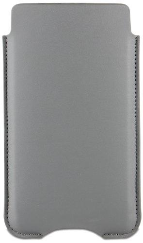 Official Roxfit Sony Xperia Z Gray Premium Slip Pouch PU Leather Case