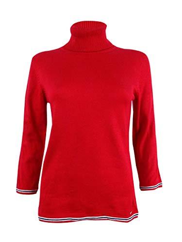Tommy Hilfiger Women's Small Stripe Turtleneck Sweater