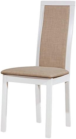 Sedie In Legno Laccate Bianco.Tuoni Every Sedia Legno Laccato Bianco 2 Pezzi Amazon It Casa