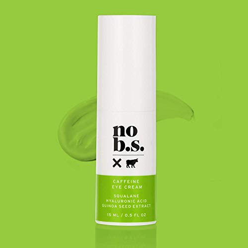 31CdzQHMosL - No B.S. Caffeine Eye Cream With Hyaluronic Acid and Plant Based Squalane. Firming Under Eye Cream For Dark Circles And Crows Feet Wrinkles. Puffy Eye Treatment. Rapid Results.