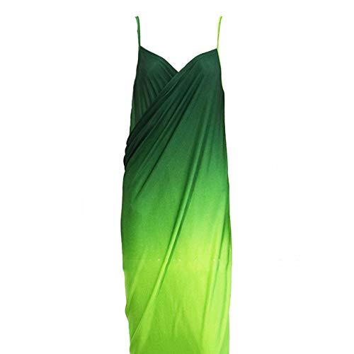 Donna Con Lunga color 3 Green Xl Gonna Wuchance Da Sfumata 7Igtqtw