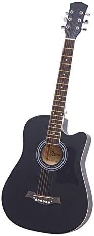 ギター 初心者のフルサイズクラシックギターブラックソリッドウッドベニヤギター 入門 ギター (Color : Black, Size : 38 inches)