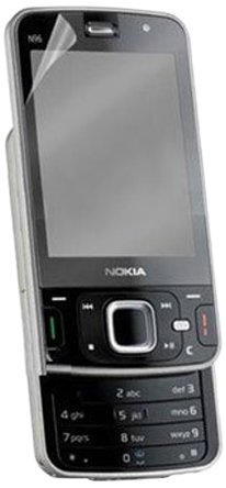Case N96 Clear - Zagg NOKN96S invisibleSHIELD Screen Protector for Nokia N96 - Retail Packaging - Clear