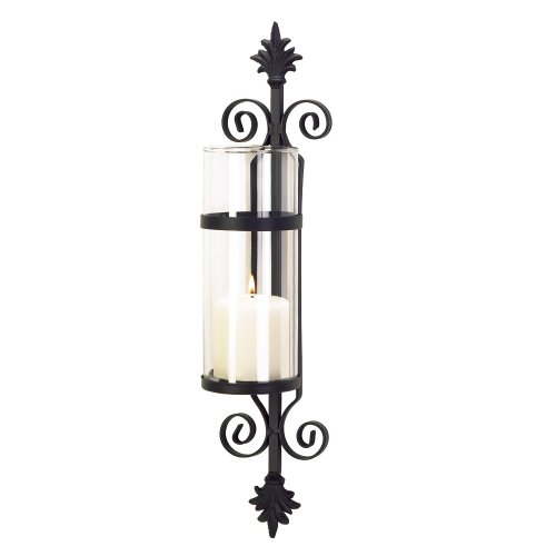 Fleur De Les Candleholder Decorative Glass Wall Sconce by Furniture Creations