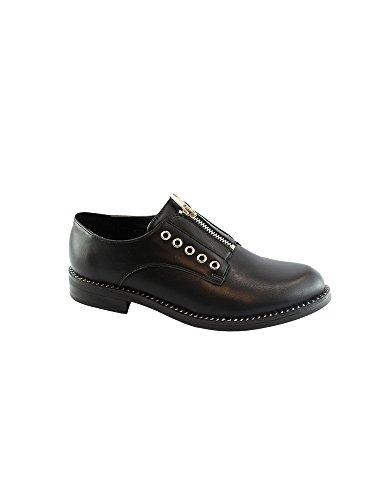 Detail Pattern Liyu Black Women Shoes Zip 11 Oxford 6 Skin Adult Eyelet Snake xrrUgI0q
