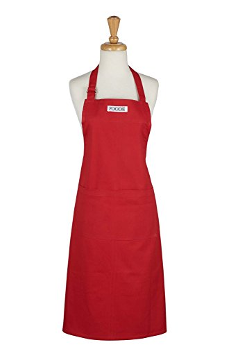 DII Cotton Adjustable Gourmet Chef Bib Apron with Pocket and Extra Long Ties, 36 xd 26.5