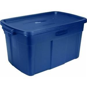 Roughneck Storage Tote (Rubbermaid Roughneck Tote 31 Gal. Indigo)