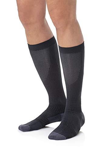 Copper Fit Unisex-Adult's 2.0 Easy-Off Knee High Compression Socks, black, Large/X-Large