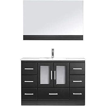 Virtu Usa Gloria 48 Inch Double Sink Bathroom Vanity Set