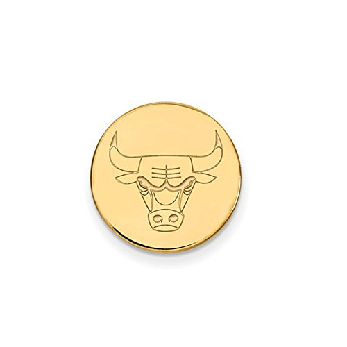 NBA Chicago Bulls Lapel Pin in 14K Yellow Gold by LogoArt