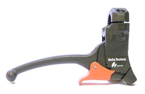 Varios Bremsgriff / Bremshebel mit Arretierung / Parkhebel - links / rechts; Befestigungsdurchmesser 22 oder 25 mm (D 25mm; Bremszugabgang: 80 Grad; PH: offen)