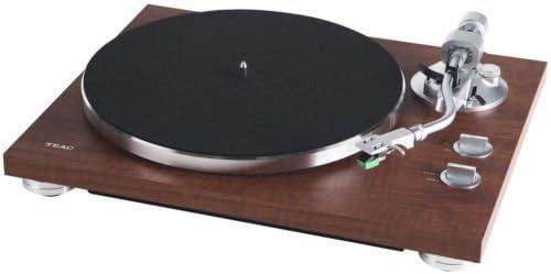Plateau aluminium, entra/înement par courroie, pr/éampli phono MM noyer Platine vinyle Hifi avec /émetteur Bluetooth pour haut-parleurs et /écouteurs, WA Teac TN-280BT