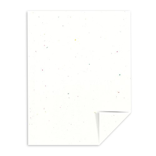 "Astrobrights Colored Cardstock, 8.5"" x 11"", 65 lb/176 gsm, Stardust White (Multi-Color Flecked), 250 Sheets (22401)"