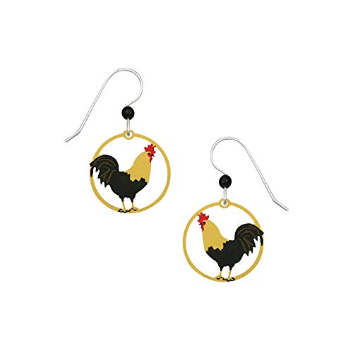 Sienna Sky Artisan Rooster Earrings with Gift Box