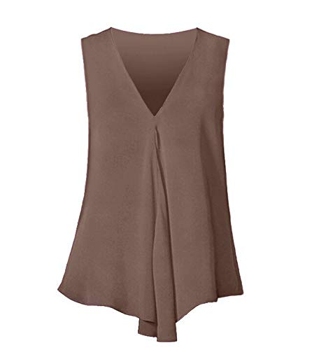 Bronze Calf Footwear - Baiggooswt Plus Size Women Summer Vest, Ladies Sale Sexy Loose Button Tank Tops V Neck Cami T-Shirt Casual Tunic Tops Bronze