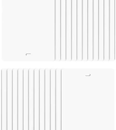 DALIX 82.5 White Vertical Blinds Replacement Slats Sliding Door Window 24 Pack