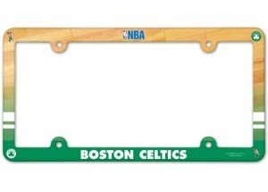 Boston Celtics NBA Set of (2) License Plate Frames - Full Color